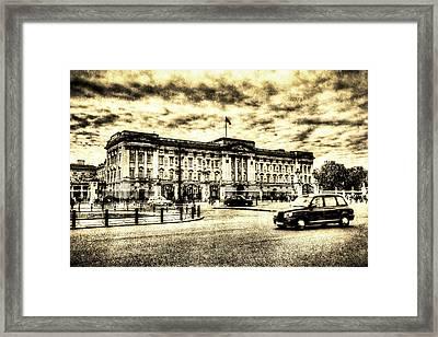 Buckingham Palace Vintage Framed Print by David Pyatt