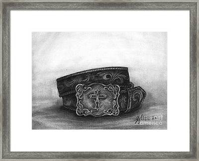 Framed Print featuring the drawing Buckled by J Ferwerda