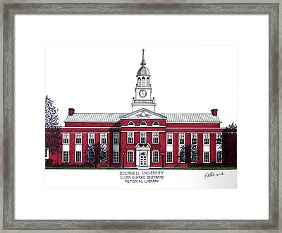 Bucknell University Framed Print by Frederic Kohli