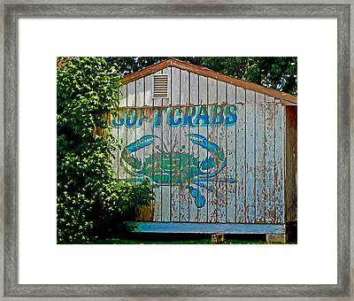Buckroe Crab Shack Framed Print
