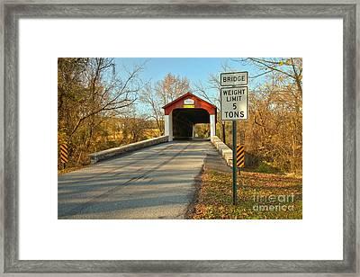 Bucks County Pa Van Sant Bridge Framed Print