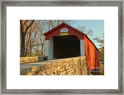 Bucks County Van Sant Covered Bridge Framed Print