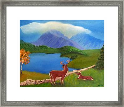 Buck's Domain Framed Print by Sheri Keith