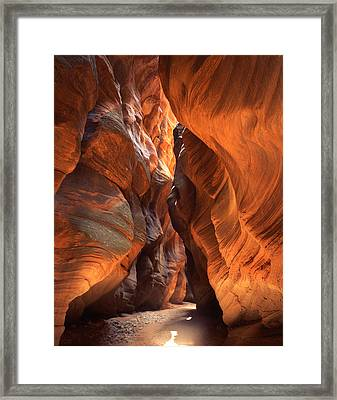 Buckskin Gulch Framed Print by Ray Mathis