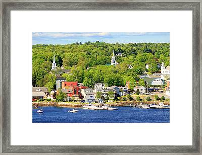 Framed Print featuring the photograph Bucksport Maine Waterfront by Barbara West