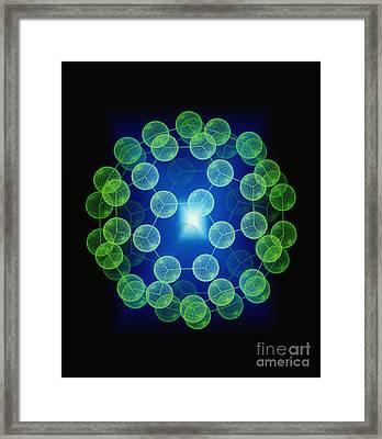 Buckyball Framed Print by Alfred Pasieka