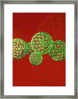 Buckyball Molecules Framed Print by Victor Habbick Visions