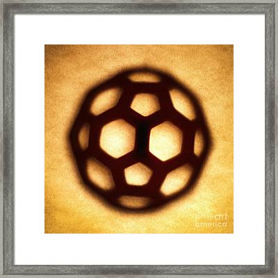 Buckyball Framed Print by Tony Cordoza