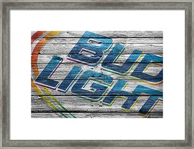 Bud Light Framed Print by Joe Hamilton