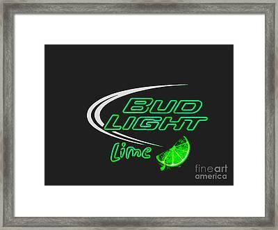 Bud Light Lime 2 Framed Print