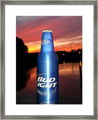 Bud Light Smooth And Refreshing Framed Print