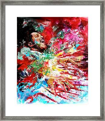 Bud Powell Framed Print by Massimo Chioccia and Olga Tsarkova