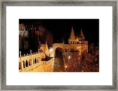 Framed Print featuring the photograph Budapest At Midnight by Jon Emery