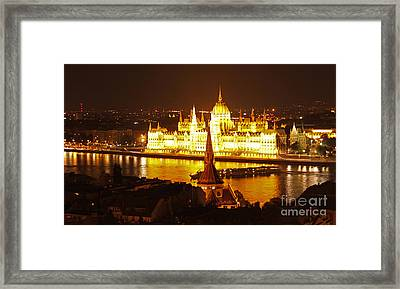 Budapest At Night Framed Print by Gregory Dyer