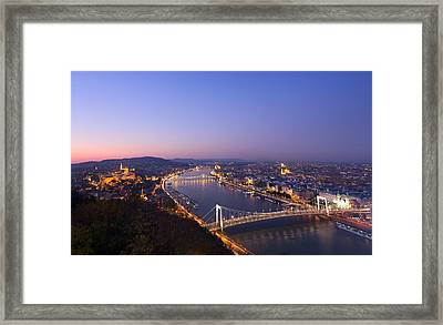 Budapest At Night Framed Print by Ioan Panaite