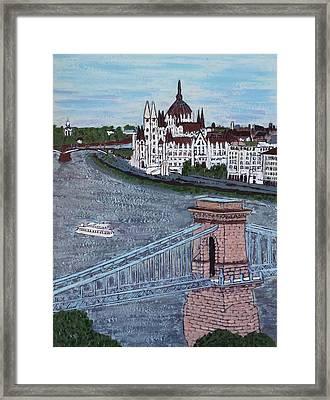 Budapest Bridge Framed Print