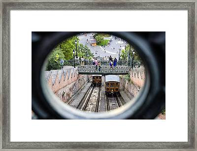 Budapest Castle Hill Funicular Framed Print