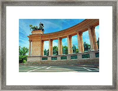Budapest, Hungary, Heroes' Square Framed Print by Miva Stock