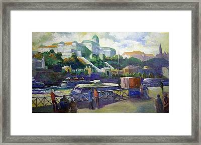 Framed Print featuring the painting Budapest  Hungary by Paul Weerasekera
