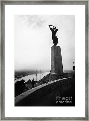 Budapest: Liberation Statue Framed Print by Granger