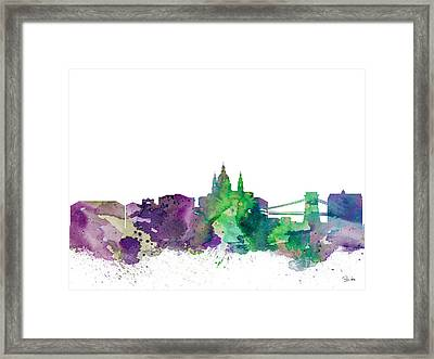 Budapest Framed Print by Watercolor Girl
