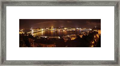 Budapest Night Panorama  Framed Print by Ioan Panaite