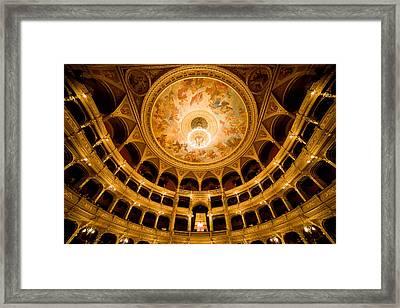 Budapest Opera House Auditorium Framed Print