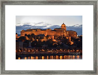 Budapest Palace At Night Hungary Framed Print by Imran Ahmed