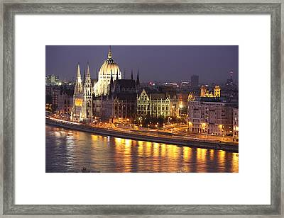 Budapest Parliament Buildings Framed Print