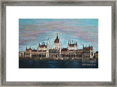 Budapest Parliament By Jasna Gopic Framed Print