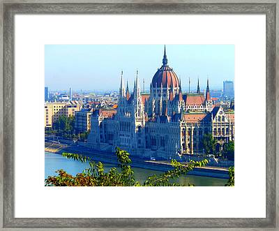 Framed Print featuring the photograph Budapest Parliament by Kay Gilley