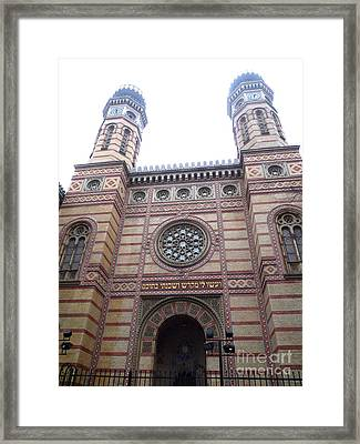 Framed Print featuring the photograph Budapest Synagogue by Deborah Smolinske