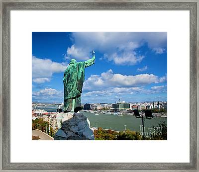 Budapest. View From Gellert Hill Framed Print by Michal Bednarek