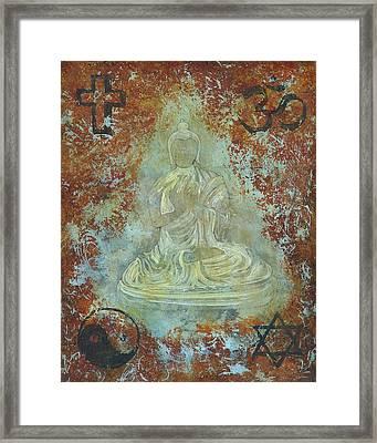 Budda Framed Print by Jeffrey Oldham
