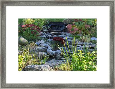 Framed Print featuring the photograph Buddha Water Pond by Brenda Brown