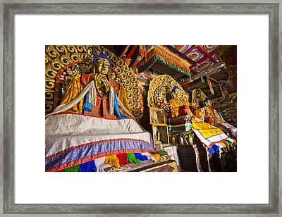 Buddahs Erdene Zuu Monastery Mongolia Framed Print by Colin Monteath