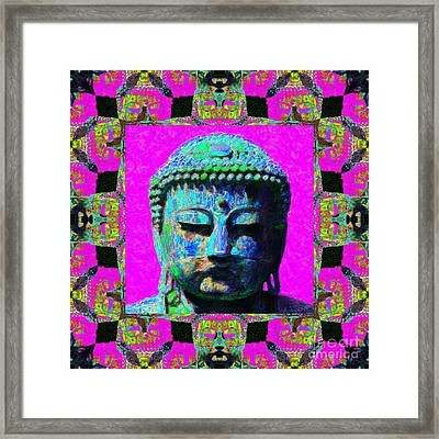 Buddha Abstract Window 20130130p0 Framed Print by Wingsdomain Art and Photography