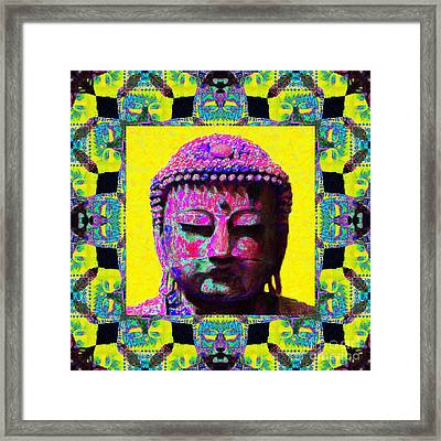 Buddha Abstract Window 20130130p120 Framed Print by Wingsdomain Art and Photography