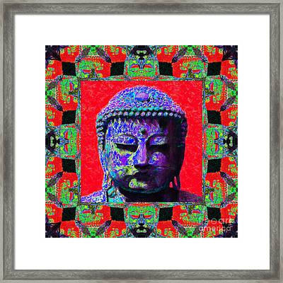 Buddha Abstract Window 20130130p55 Framed Print by Wingsdomain Art and Photography