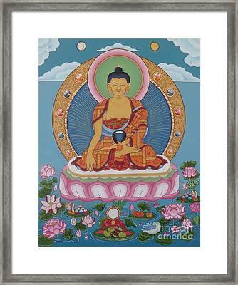 Buddha Arising Framed Print by Andrea Nerozzi