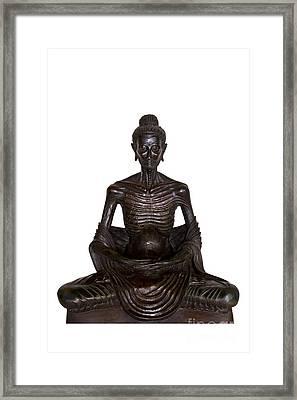 Buddha Attitude Subduing Himself Image Framed Print