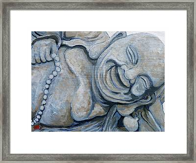 Framed Print featuring the painting Buddha Bella by Tom Roderick