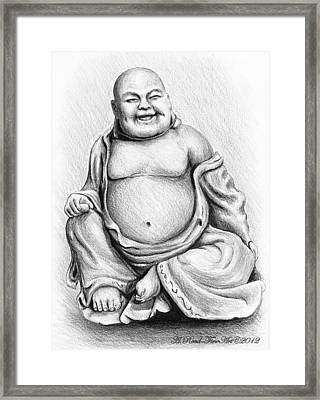 Buddha Buddy Framed Print by Andrew Read