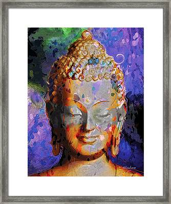 Framed Print featuring the painting Buddha by David Klaboe