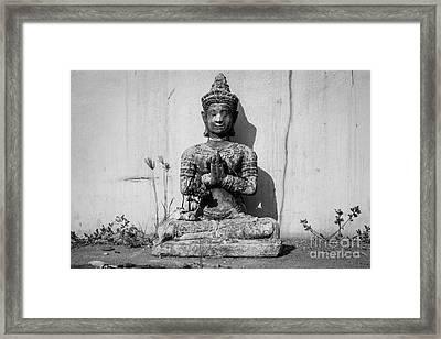 Buddha - Devotional V Framed Print by Dean Harte
