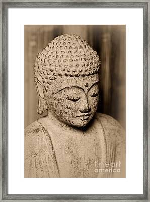 Buddha Enlightened Framed Print by Paul Ward