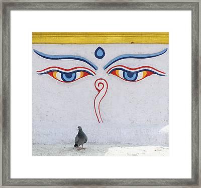 Buddha Eyes Framed Print