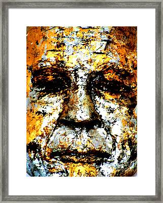 Framed Print featuring the photograph Buddha Face by Nola Lee Kelsey