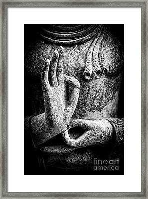 Buddha Hand Mudra Framed Print by Tim Gainey