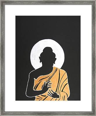 Buddha II Framed Print by Kruti Shah